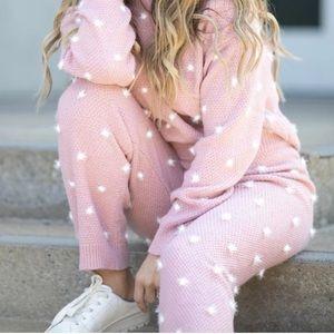 Pink Kittenish sweater set